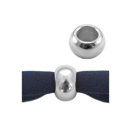 DQ metaal ball 9 x 5 mm Antiek zilver ( nikkelvrij )