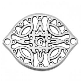 DQ metalen tussenstuk Antiek zilver (nikkelvrij)