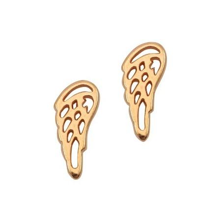 DQ metalen angel wing Rosé goud (nikkelvrij)