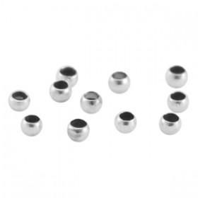 DQ metaal knijpkraal 2.5mm Antiek zilver (nikkelvrij)