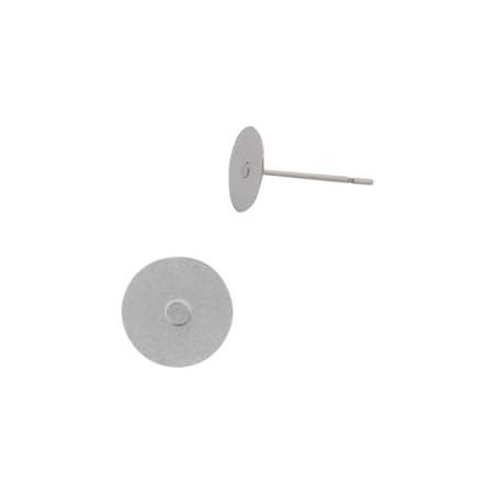 RVS Oorstekers kleefvlak 6mm