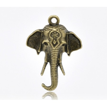 Bedeltje olifant Antiek brons
