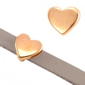 DQ metaal schuiver hart Ø5.2x2.2mm Rosé goud (nikkelvrij)