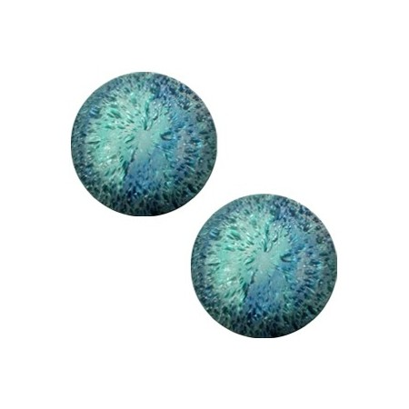 cabochon 12mm Polaris Perseo crushed ice Blue zircon