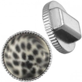 DQ Cuoio vintage setting / slider Zilver 20mm
