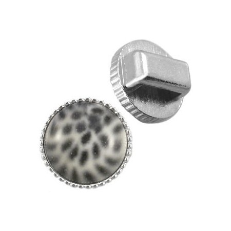 DQ Cuoio vintage setting / slider Zilver 12mm