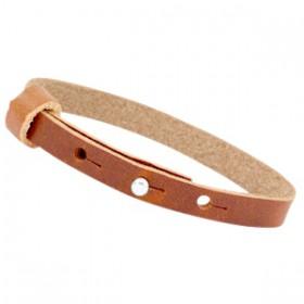 Cuoio armbanden leer 8 mm voor 12 mm cabochon Dark cognac brown