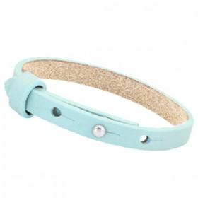 Cuoio armbanden leer 8 mm voor 12 mm cabochon Aruba blue