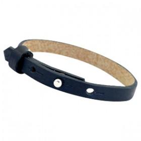 Cuoio armbanden leer 8 mm voor 12 mm cabochon Dark midnight blue