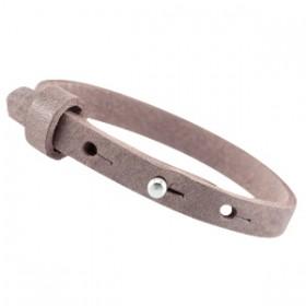 Cuoio armbanden leer 8 mm voor 12 mm cabochon Soft terra brown