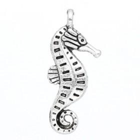 Bedeltje zeepaardje zilver