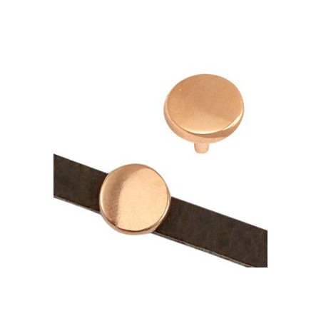 DQ metaal schuiver cirkel 5x2mm Rosé goud (nikkelvrij)