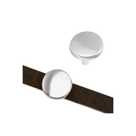 DQ metaal schuiver cirkel 5x2mm Antiek zilver (nikkelvrij)