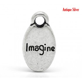 Bedeltje imagine zilver
