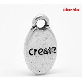 Bedeltje create zilver