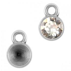 DQ hanger/setting voor SS24 puntsteen 1 oog Antiek zilver (nikkelvrij)