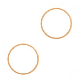 DQ Gesloten cirkel Rosé goud 14mm (nikkelvrij)