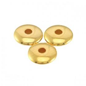 DQ metalen kralen disc 4x1.5mm Goud (nikkelvrij)