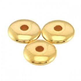DQ metalen kralen disc 5x1.5mm Goud (nikkelvrij)