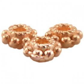 DQ metaal tube ring 5.5 x 2.8 mm Rosé goud ( nikkelvrij )