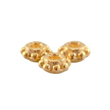 DQ metaal tube ring 5.5 x 2.8 mm Goud ( nikkelvrij )