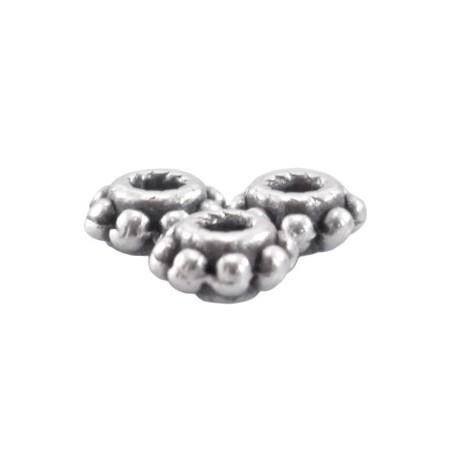 DQ metaal tube ring 5.5 x 2.8 mm Antiek Zilver ( nikkelvrij )