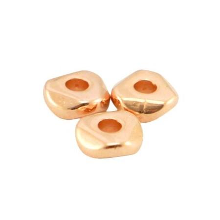 DQ metaal kraal 4.8x1.9mm Rosé goud (nikkelvrij)