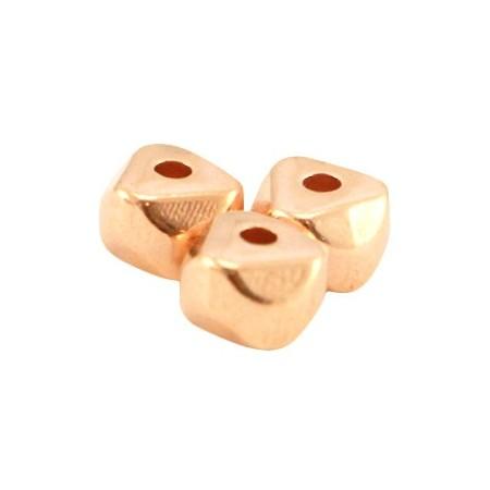 DQ metaal kraal 6.3x4.5mm Rosé goud (nikkelvrij)