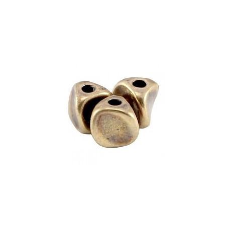 DQ metaal kraal twist Antiek Brons (nikkelvrij)