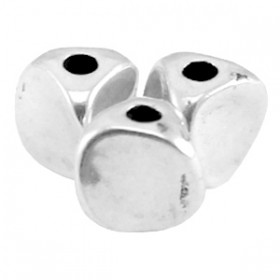 DQ metaal kraal twist Antiek zilver (nikkelvrij)