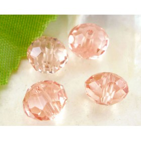 Facet kralen 8x6mm disc Rose Peach