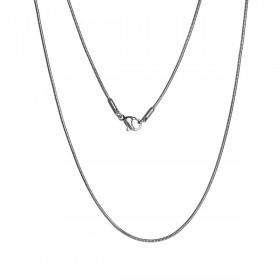 RVS Halsketting Snake chain zilverkleur