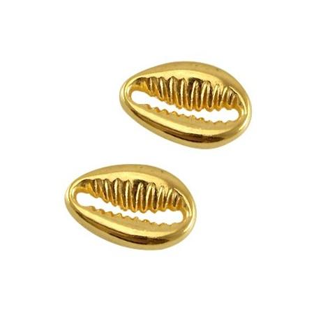 DQ metalen tussenstuk schelp Goud