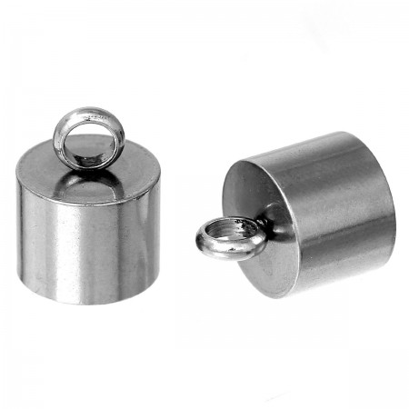Endcaps 304 Stainless steel zilverkleur 15x10mm
