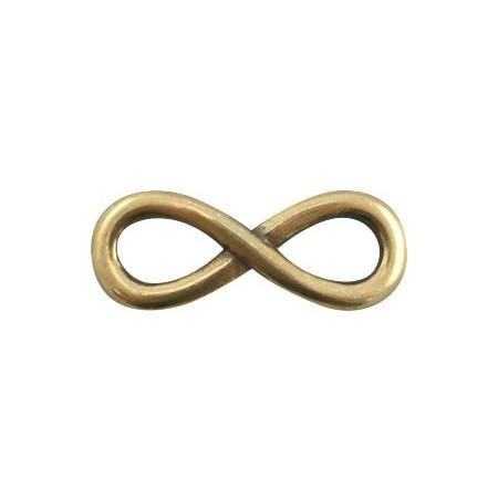 DQ metaal infinity bedel 30 mm Antiek brons