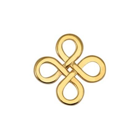 DQ metaal tussenstuk Infinity vierkant Goud
