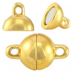 DQ metalen magneetslot ball 8mm Goud (nikkelvrij)