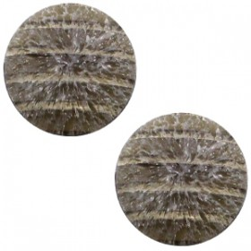 cabochon 12mm Polaris Koron matt crushed ice Brown