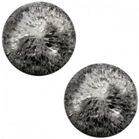 cabochon 20mm Polaris Perseo matt crushed ice Black silver