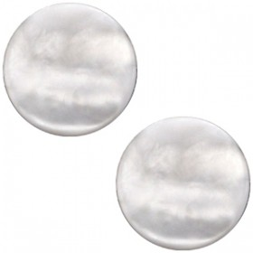 cabochon 12mm Polaris Perseo matt White grey