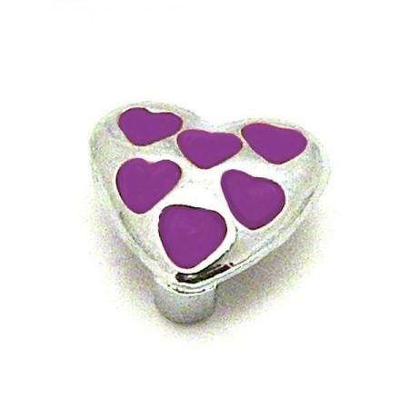 Figuur hartje met paarse hartjes