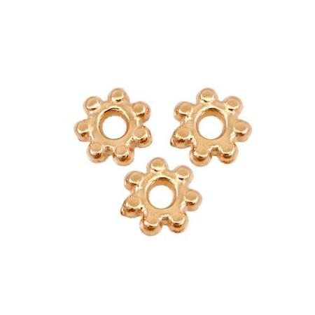 DQ metaal kraal spacer Bali ring 4.8mm Rosé goud (nikkelvrij)