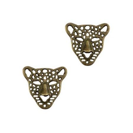 Bedel leopard Antiek brons