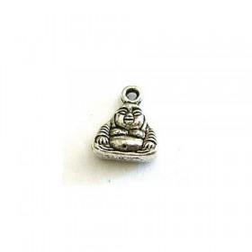 Metalen bedeltje Buddha antiek zilver