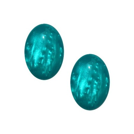 Polaris cabochon ovaal 13x18mm Shiny blue zircon