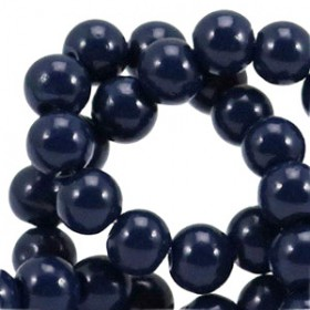 Glaskraal 6 mm opaque Midnight blue