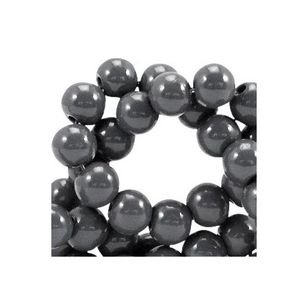 Glaskraal 8 mm opaque Donker grijs