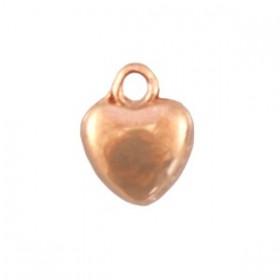 Bedeltje DQ hartje 6 mm rosé goud (nikkelvrij)