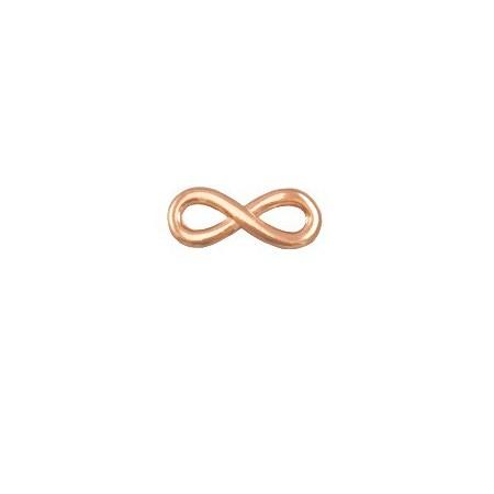 DQ infinity bedel 15 mm Rosé goud (nikkelvrij)