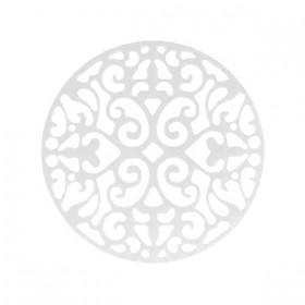 Bohemian tussenstuk rond 23mm Zilver